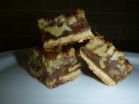gluten free caramel nut bars