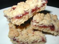 gluten free raspberry oat bars