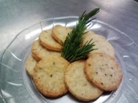 gluten free rosemary parmesan crackers