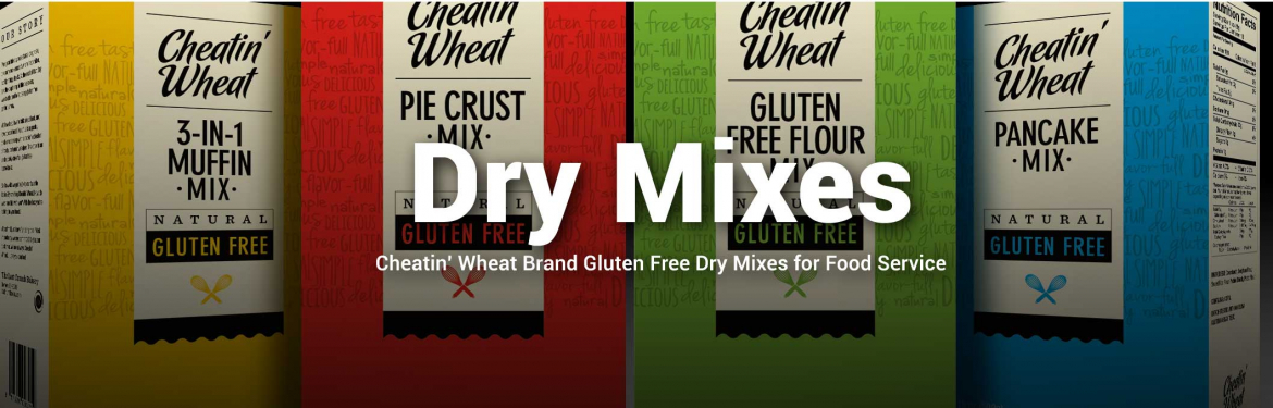 Cheatin' Wheat Brand Gluten Free Dry Mix for Food Service