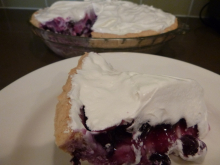 gluten free, egg free blueberry pineapple icebox pie