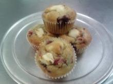 gluten free raspberry cream cheese muffin