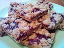 gluten free, dairy free, egg free raspberry oat bars